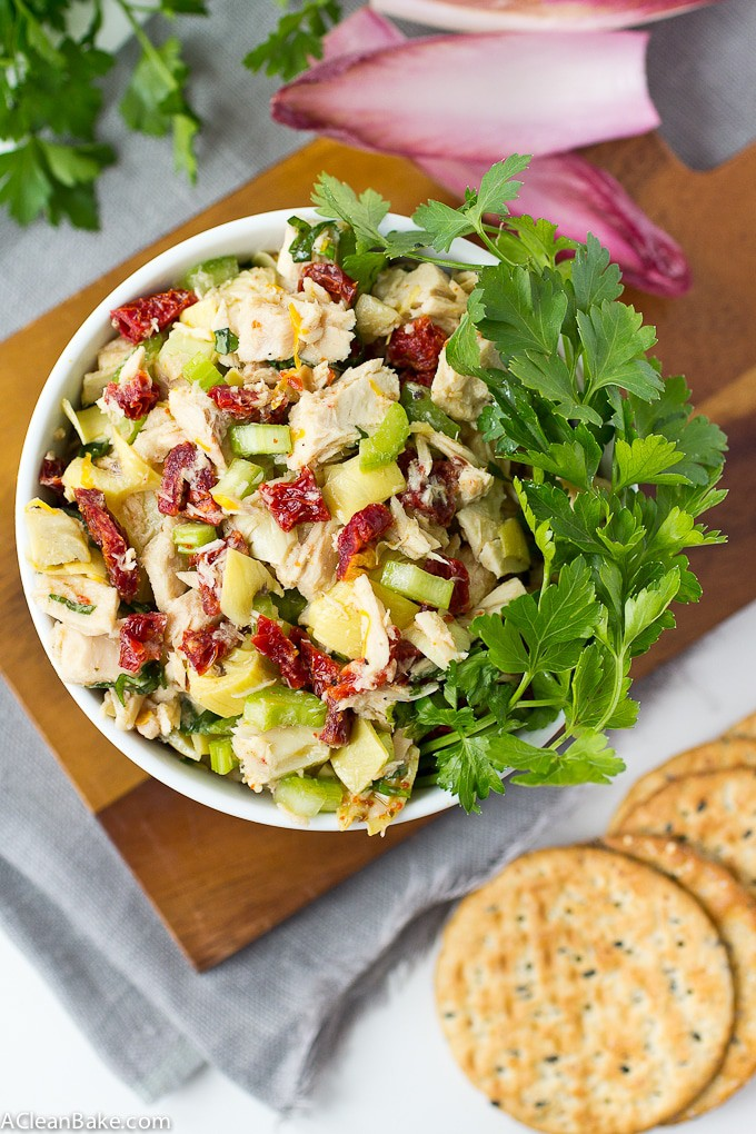 Easy Mediterranean Tuna Salad made from simple pantry and fridge ingredients! (gluten free, grain free, paleo friendly, low carb, high protein)