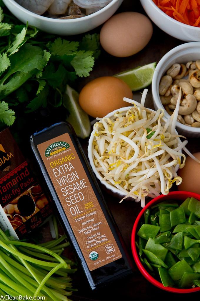 Homemade Pad Thai (gluten free, dairy free)