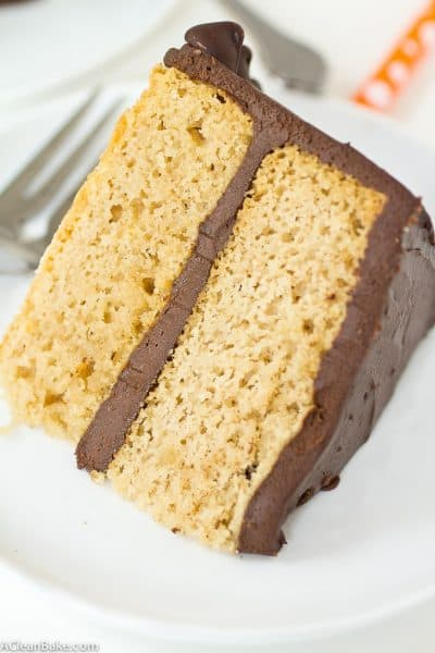 Classic grain free yellow cake! It's gluten free, refined sugar free, paleo and only requires one bowl!
