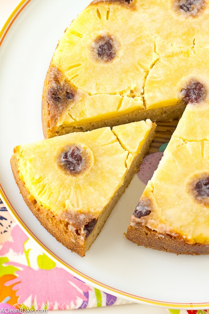 Pineapple Upside Down Cake (Gluten free, Naturally Sweetened, Paleo Friendly)