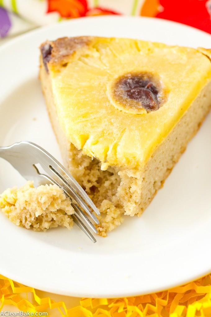 Pineapple Upside Down Cake (Gluten free, Naturally Sweetened, Paleo Friendly)