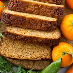 Carrot Orange Bread (gluten free, grain free, lower carb and naturally sweetened)