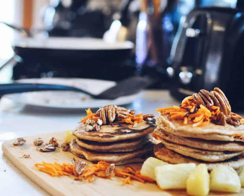 Grain Free Carrot Pecan Pancakes