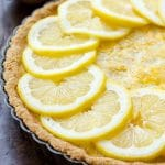 Paleo Lemon Custard Tart (gluten free, grain free, naturally sweetened, and low carb)