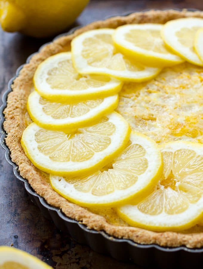 Lemon Custard Tart – Aka Pac-Man Tart (with Simple Mills)