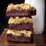 Paleo Brookies - Brownie/Cookie Hybrid Bars (gluten free, grain free, lower carb, naturally sweetened