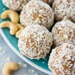 Coconut Cashew Energy Bites (Gluten free, paleo, vegan, raw)