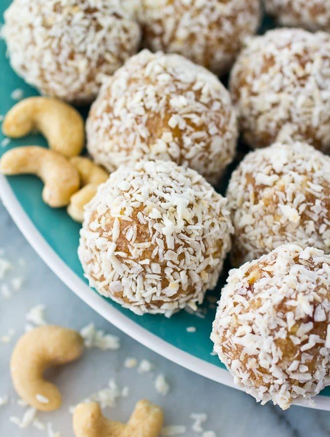 """Coconut Cashew """"Amazeballs"""" Energy Bites"""