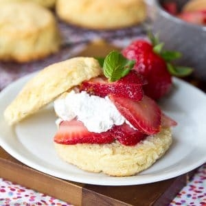 Paleo Strawberry Shortcake (Gluten free, Low Carb)