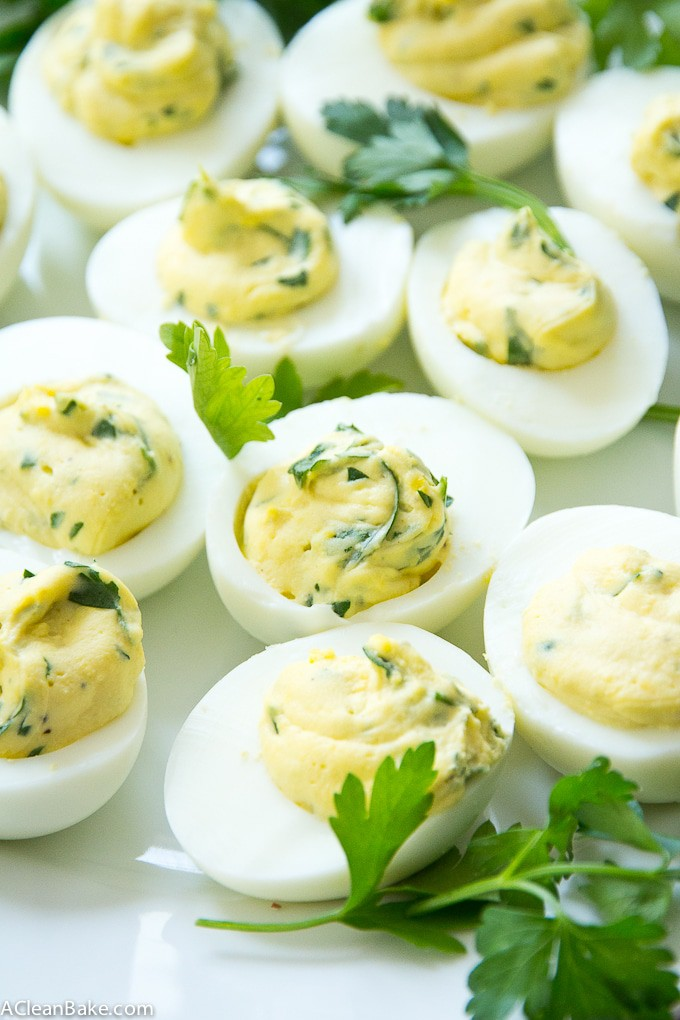 Paleo Herbed Deviled Eggs