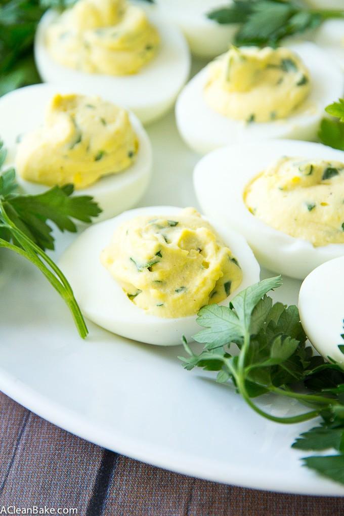 Paleo Herbed Deviled Eggs