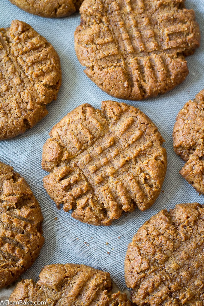 Classic Peanut Butter Cookies (gluten free, dairy free, paleo-adaptable)