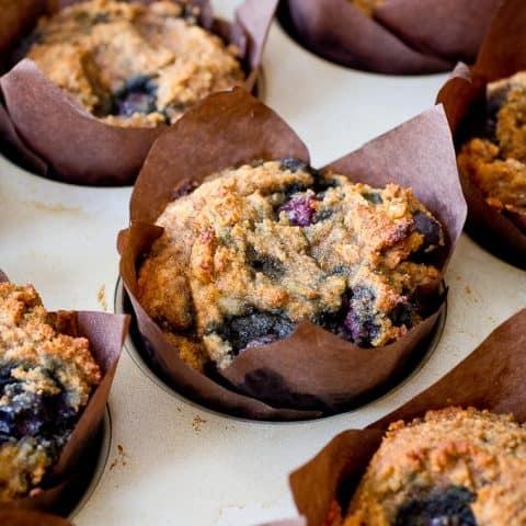 Paleo Banana Blueberry Muffins (gluten free, grain free, dairy free)