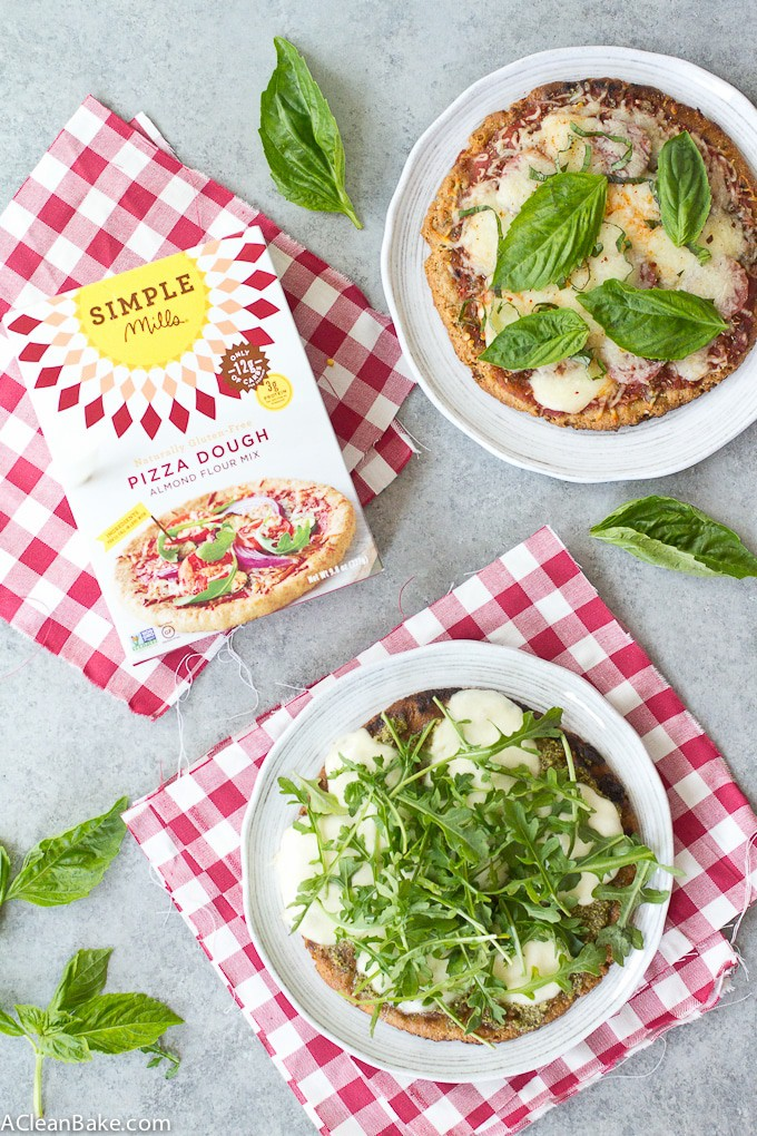 Gluten Free and Paleo Grilled Pizza, 2 ways (with Simple Mills)