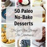 Healthy No Bake Desserts (Gluten free, Paleo)