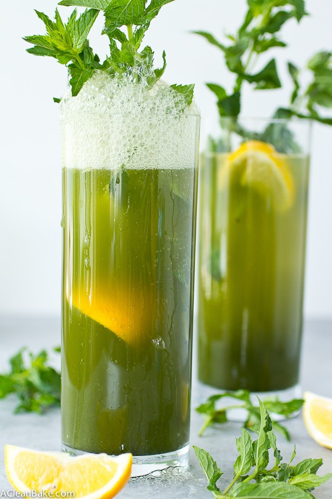 Hydrating Green Goddess Sparkler Mocktail, plus two other health mocktails with only three ingredients (Gluten free, paleo, vegan, dairy free, egg free)