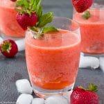 Frozen Strawberry Lemonade (gluten free, paleo, sugar free, vegan)