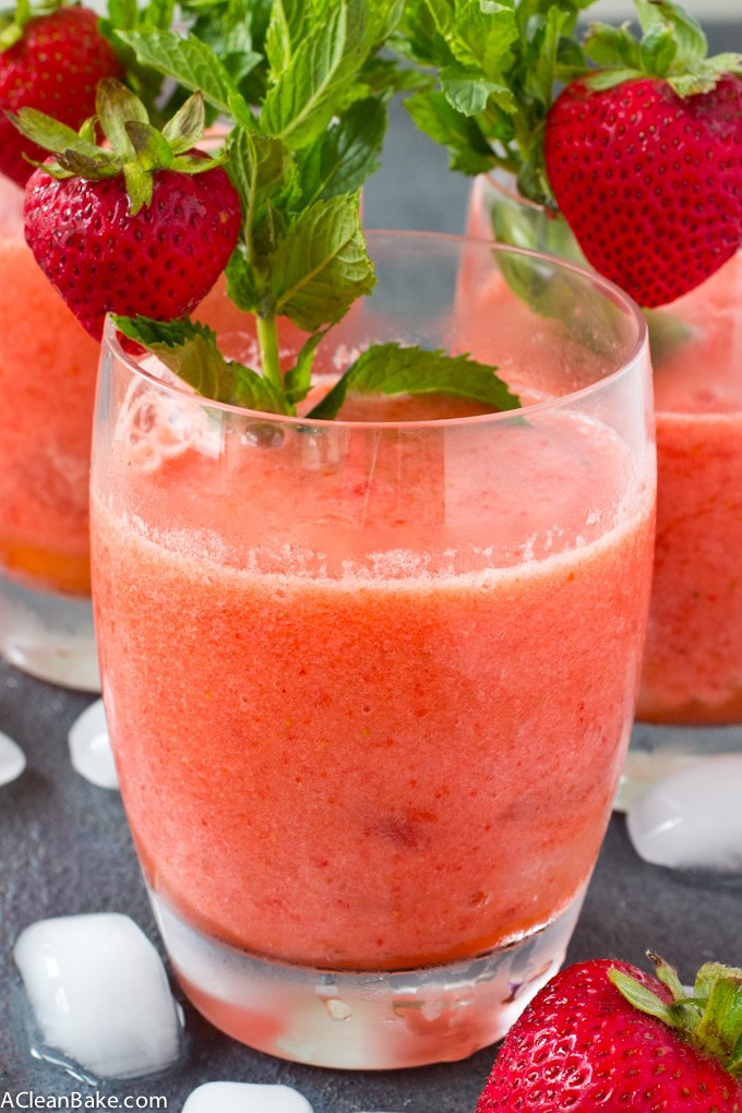 Frozen Strawberry Lemonade (gluten free, paleo, sugar free, vegan)
