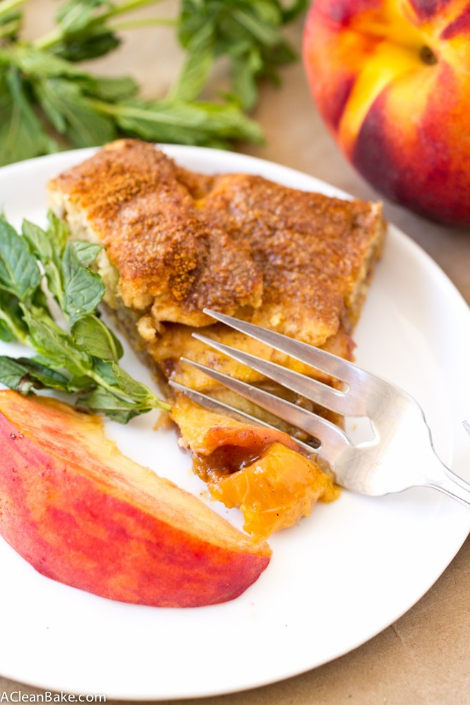 Paleo Peach Galette (gluten free, grain free, low glycemic)