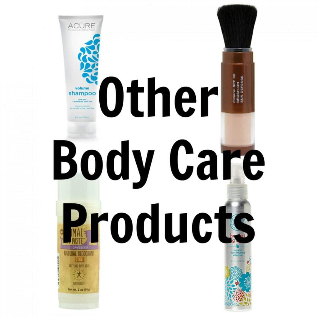 Non-toxic Skin Care Products (and tips for making an easier transition): Other Body Care Products