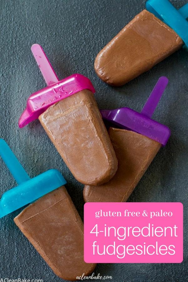 Homemade 4-ingredient fudgesicles #dessert #Nobakerecipe #dessertrecipe #glutenfree #glutenfreerecipe #paleo #Paleorecipe #dairyfreerecipe #veganrecipe #vegan #healthydessert #healthydessertrecipes #easydesserts #easydessertrecipes