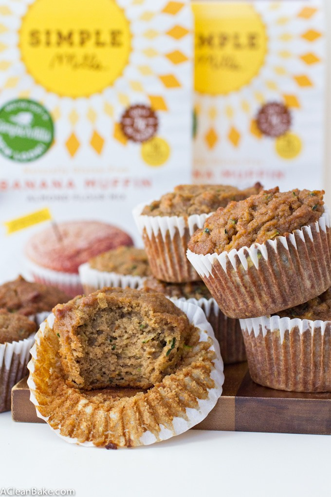 Grain Free and Naturally Sweetened Zucchini Apple Banana Muffins #BacktoSimple #HealthySnacking