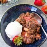 Paleo Strawberry Rhubarb Crisp