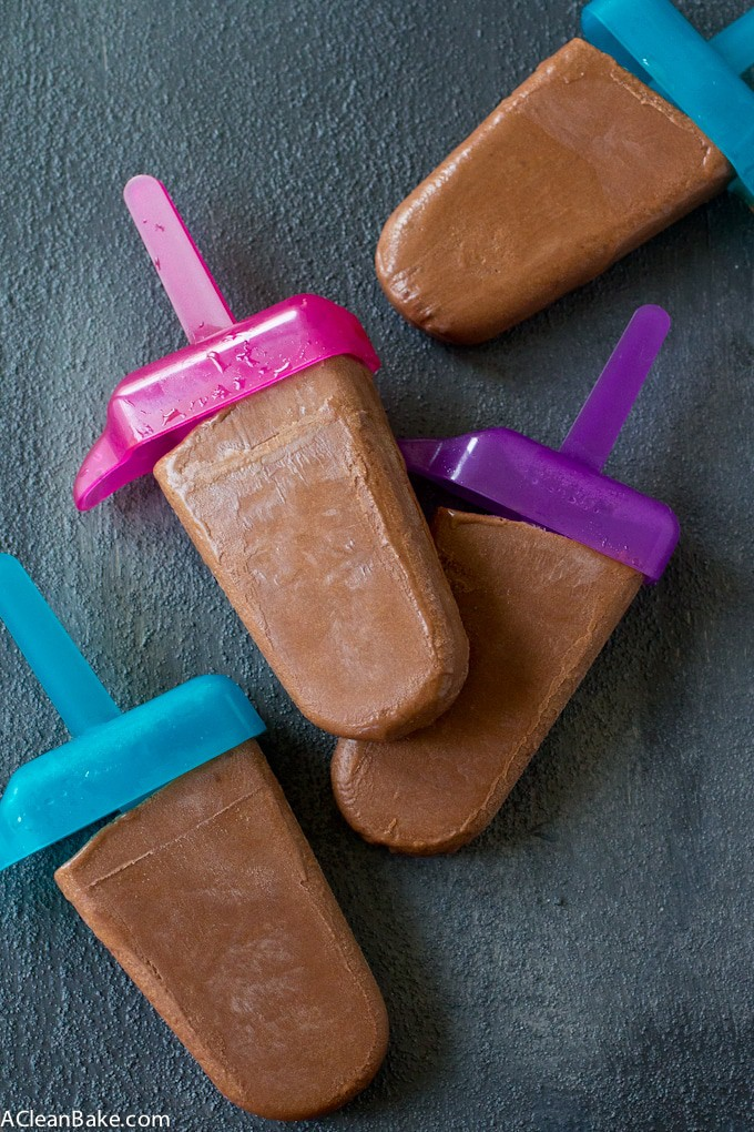 Homemade Fudgesicles (Gluten, dairy and refined sugar-free, paleo friendly)