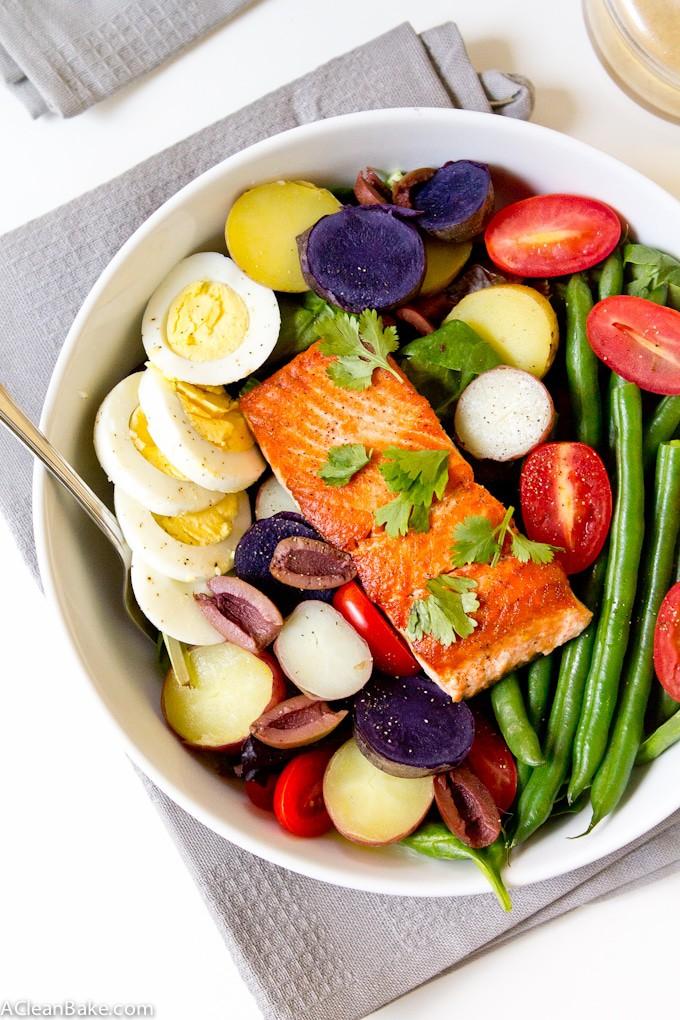 Salmon Nicoise Salad With Homemade Lemon Dijon Vinaigrette