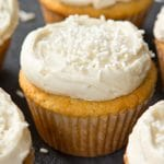 Low Carb Paleo Vanilla Cupcakes with Vanilla Frosting