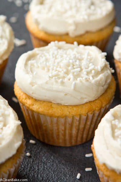Paleo Vanilla Cupcakes (gluten free and lower carb)