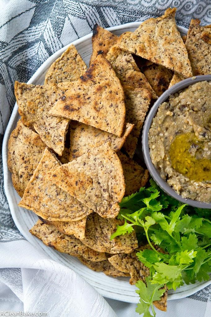 Grain Free Pita Chips (gluten free, dairy free, paleo friendly)