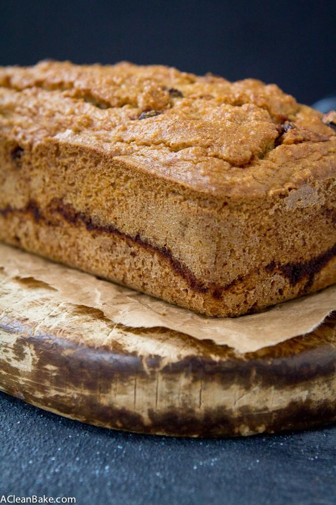 Cinnamon Raisin Swirl Bread (Grain free, gluten free, low carb, yeast free, dairy free)