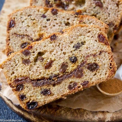 Grain Free Cinnamon Raisin Swirl Bread