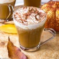 Sugar Free Pumpkin Spice Latte (gluten free, vegan)