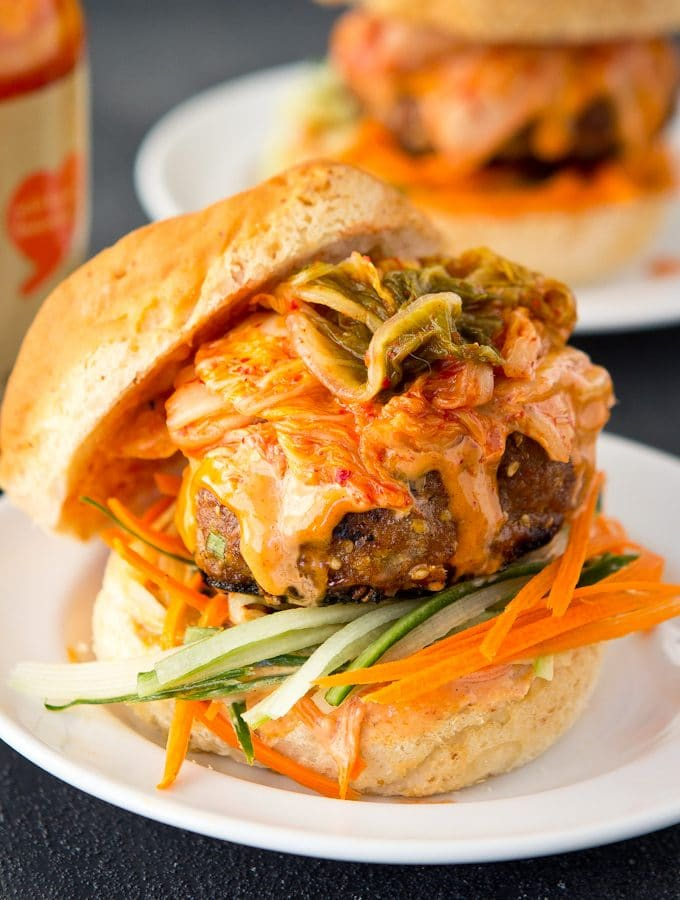 Korean Turkey Burgers
