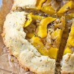 Acorn Squash Galette with Caramelized Onions and Thyme