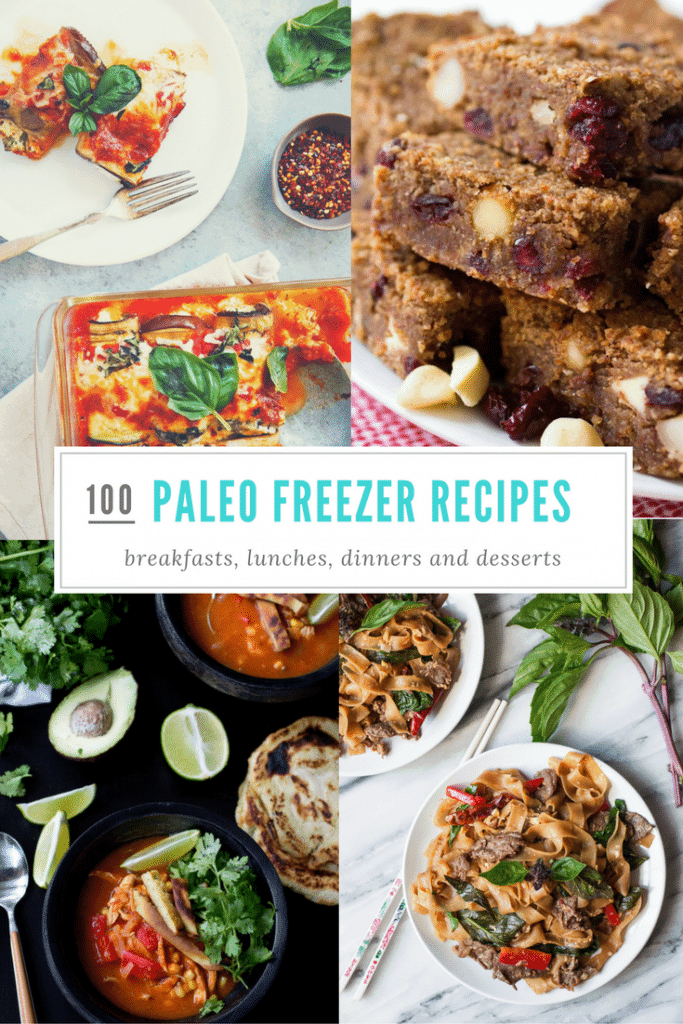100 Make Ahead Freezer Meals! These #freezeable paleo friendly #breakfast, #lunch, #dinner, and #dessert #recipes are easy, healthy, and delicious. And they are #grainfree, #glutenfree, #paleo, and lots of #whole30 options, too! #glutenfreebreakfasts #glutenfreebreakfastrecipes #glutenfreelunchideas #glutenfreelunchrecipes #makeaheadrecipes #healthydinners #easydinners #glutenfreedinnerideas #glutenfreedinnerrecipes #healthydesserts #paleodesserts #glutenfreedesserts
