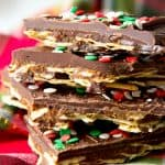 Gluten free and paleo cracker toffee
