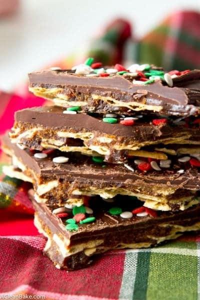 Gluten free and paleo cracker toffee