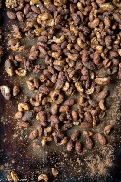Slow Cooker Candied Spiced Nuts (Gluten Free, Paleo, Naturally Sweetened)