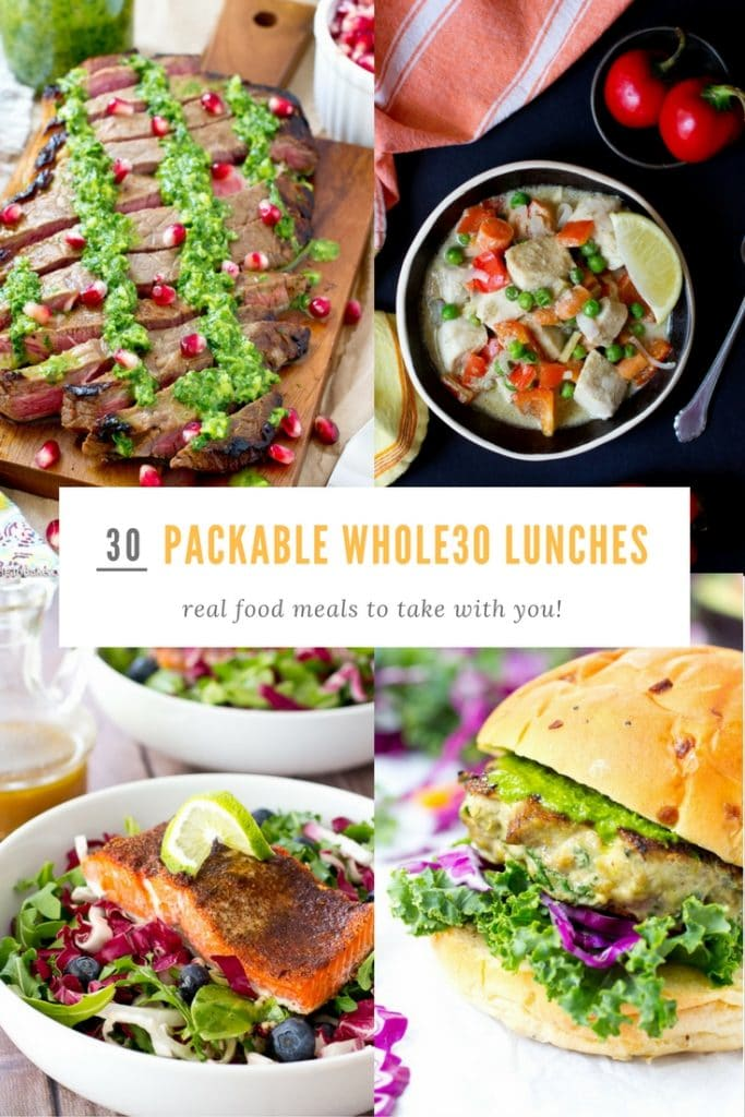 30 Packable Whole30 Lunches from acleanbake.com