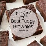The BEST fudgy brownies that also happen to be #glutenfree and #paleo-friendly! #paleorecipe #paleodessert #paleodessertrecipe #grainfree #naturallysweetened #glutenfreerecipe #glutenfreedessert #glutenfreebrownies #brownierecipe #brownies