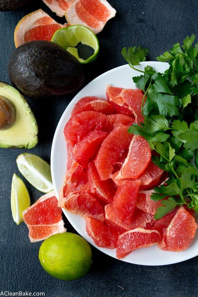 Grapefruit Avocado Salad (Gluten free, paleo, vegan)