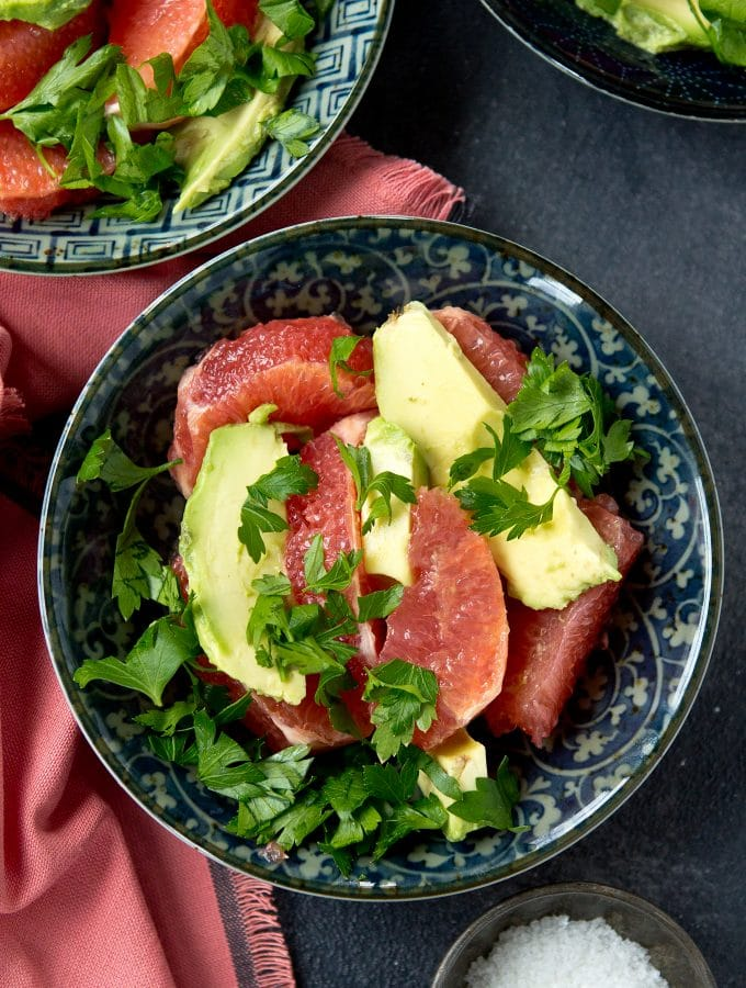 Grapefruit Avocado Salad (Gluten free, paleo, vegan)