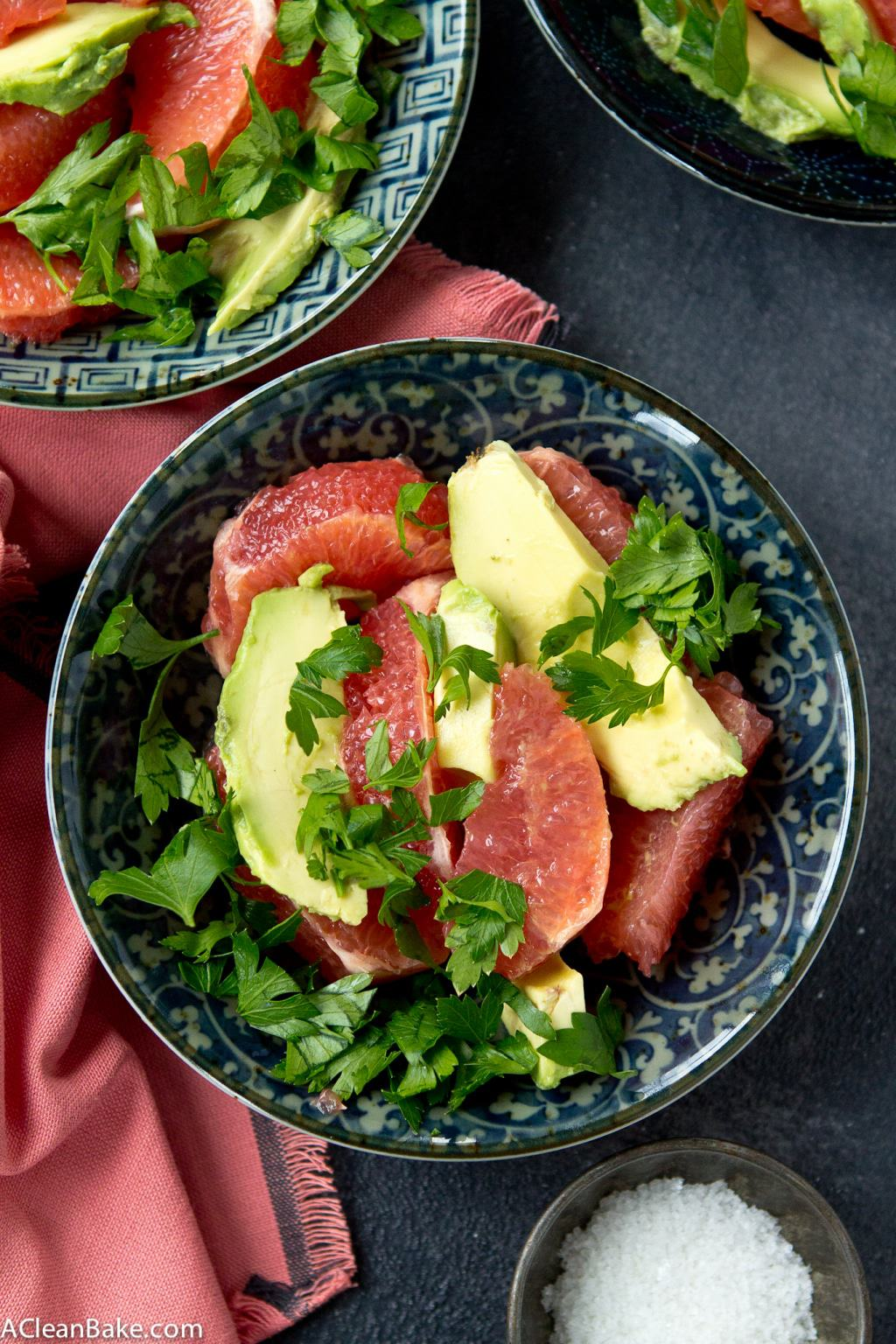 Simple Grapefruit & Avocado Salad (Gluten Free, Paleo, and Whole30)