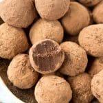 Dark Chocolate Truffles (Gluten Free, Dairy Free, Low Carb, Vegan)