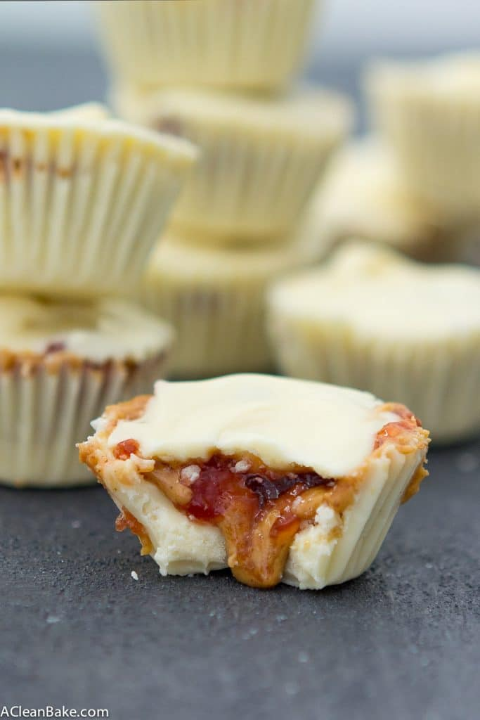 White Chocolate Peanut Butter & Jelly Cups (Gluten Free, Paleo and Vegan)
