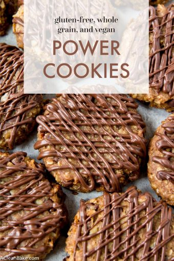 4 Ingredient Power Cookies #glutenfree #glutenfreerecipes #glutenfreecookies #glutenfreedesserts #healthyrecipes #healthy #healthydesserts #healthycookies #wholegrain #wholegrainrecipes #wholegrainedesserts