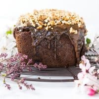 Gluten Free and Paleo Banana Bread with Pecans, Dates and Caramel Glaze